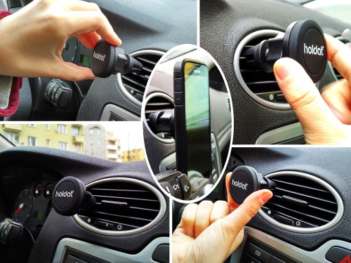 Magnetyczny uchwyt na telefon magnes kratki nawiew