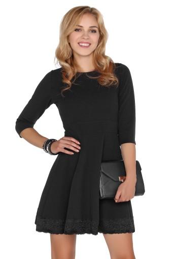 a4fda10fe8 Elegancka Sukienka z rękawem 3 4 do pracy S 7477856072 - Allegro.pl