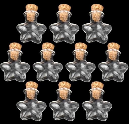 mini BUTELECZKI gwiazdy z korkiem - JAROPAP