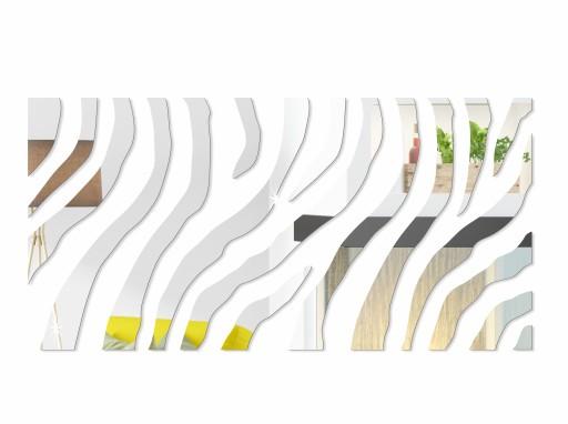 Unikalne Lustro Dekoracyjne Akrylowe Zebra 140 Cm