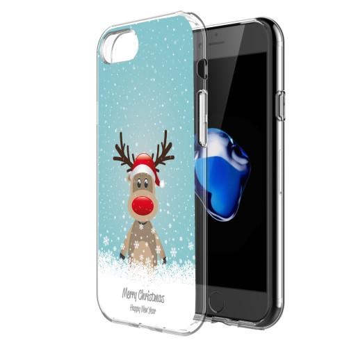 Świąteczne Etui do iPhone 7 Plus Renifer Mikołaj