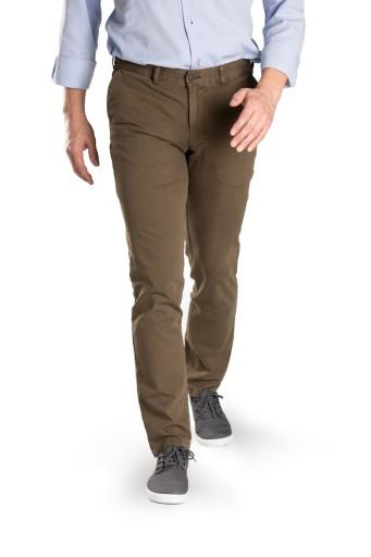 Chinosy spodnie męskie brązowe Polskie 7713590824 Odzież Męska Spodnie AC BBPSAC-2