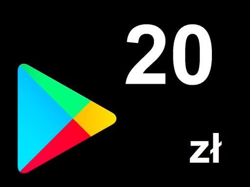 Karta Google Play 20zł Kod Prepaid Klucz Android