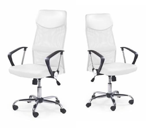 Fotel pracowniczy krzesło obrotowe VIRE zagłówek