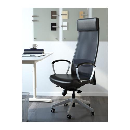 IKEA MARKUS krzesło biurowe obrotowe fotel CZARNY