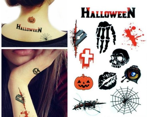 Tatuaże Tymczasowe Na Halloween Rany żyletka Tm159