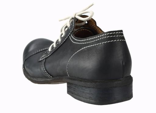 45 Niskie glany czarne skÓrzane sznurowane pÓłbuty 10742673534 Obuwie Męskie Męskie TE OAHATE-6