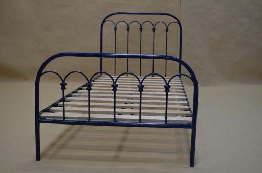 łóżko Metalowe Kute Falbanka 90x200 Do Sypialni