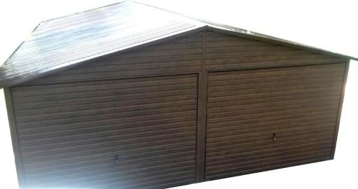 Garaż Blaszany 6x5 Garaż Blaszak Drewnopodobny 7031761887 Allegropl