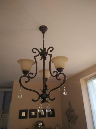 lampa sufitowa żyrandol + 2 kinkiety komplet lamp