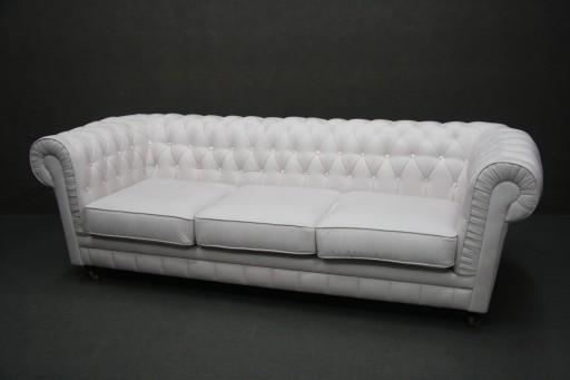 Sofa Chesterfield Duza Pikowana Krysztalki Tkanina 7172661279