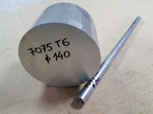 Aluminium, pręt aluminiowy fi 35 mm PA9 7075T6