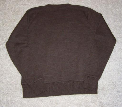 H&M Sweter brązowy w serek M-L 10777082627 Odzież Męska Swetry DT LUWQDT-3