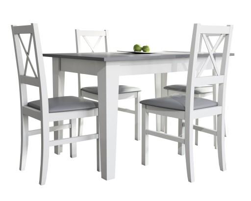 Mały Zestaw Do Kuchni Stół 80x120x165 I 4 Krzesła
