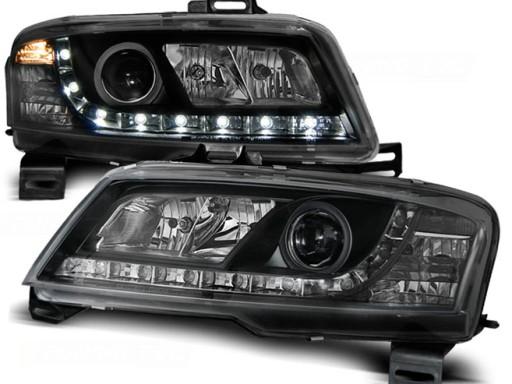 Lampy przód Fiat Stilo BLACK LED diodowe czarne