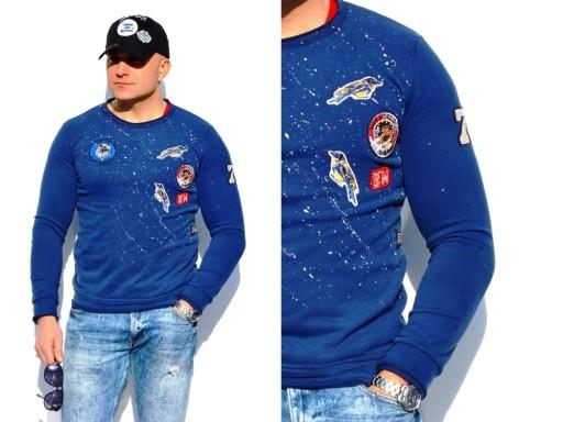 Bluza Laguna Z Naszywkami Niebieska Rozmiar Xxl 7195144560 Allegro Pl