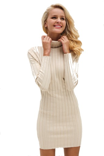 Dzianinowa Sukienka Z Golfem Simplee Rozm M 7603574881 Allegro Pl