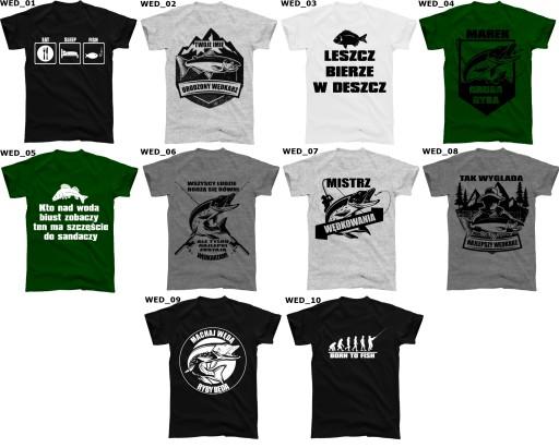 Koszulka DLA WĘDKARZA WĘDKARSKA 10 wzorów junior
