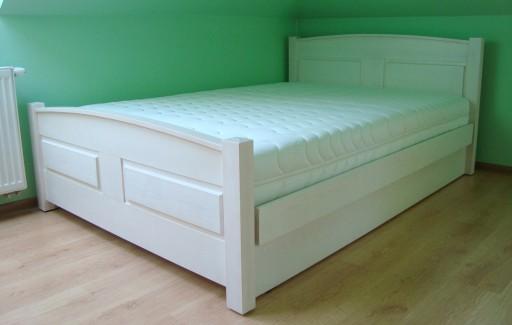 łóżko Drewniane Z Pojemnikiem Sandra 120x200