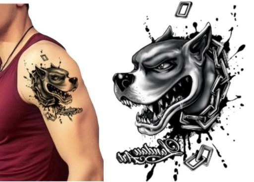 Wściekły Pitbull Tatuaż Tymczasowy Zmywalny Tm164