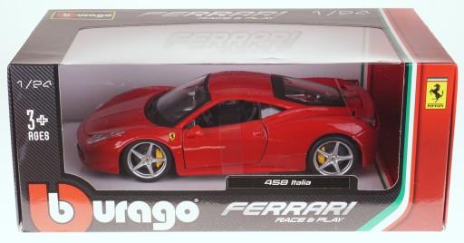 Ferrari 458 Italia Model Metalowy Bburago 1 24 New 7267698267 Allegro Pl