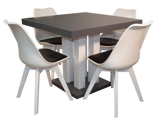 Kwadratowy Stół Rozkładany 80x80 200 Z 4 Krzesłami 7451274532
