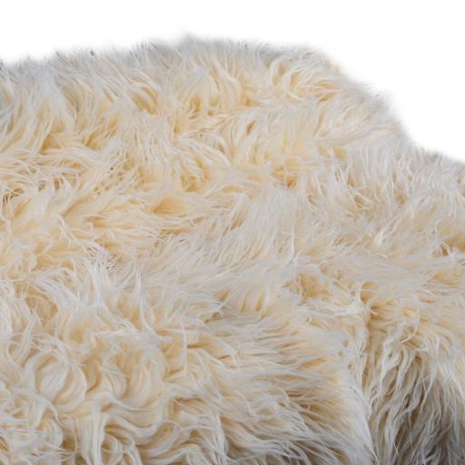 Sztuczne futerko futro beżowe dekoracyjne włochacz