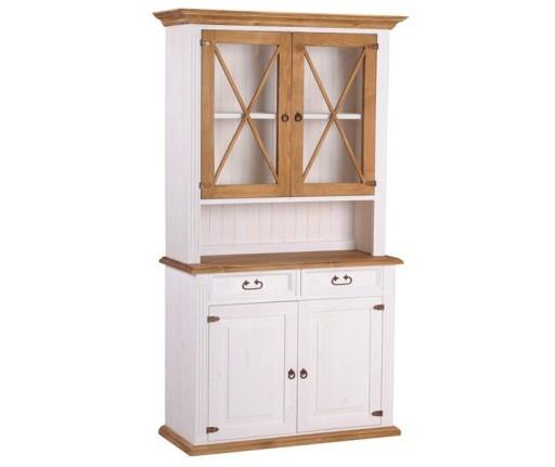 Biały,wybielany Kredens 14 z Drewna Litego,ZOBACZ