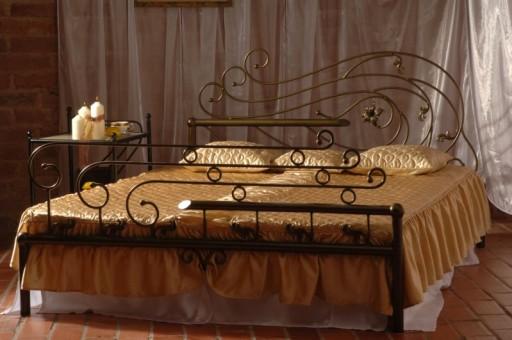 łóżko Metalowe Kute Oaza 120x200 Glamour Producent