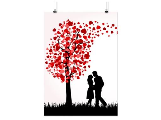 Plakat Serce Walentynki 50x70 Cm 60 Wzorów Matowy