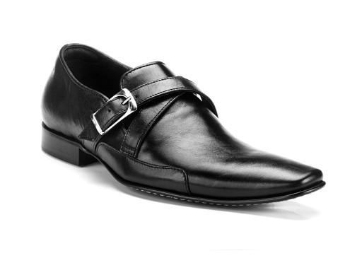 44 COMODOESANO wsuwany skóra pól buty wizytowe