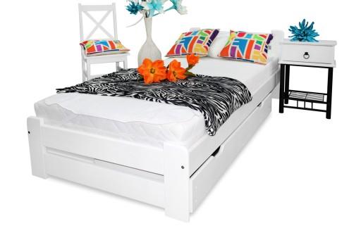 łóżko Eureka 90x200 Materac Sprężynowy Sypialnia