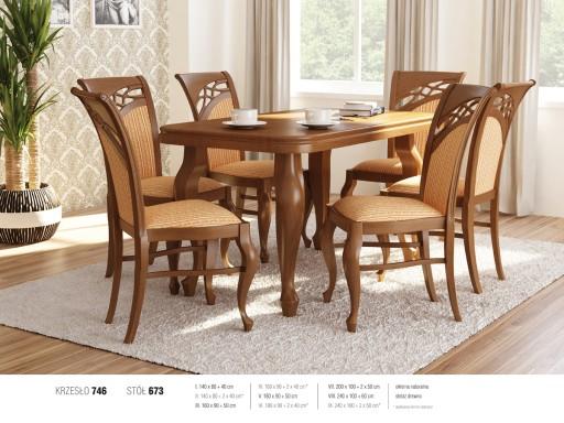 Stylowy Zestaw Stół Fornir Dębowy I 6 Krzeseł 7528859883 Allegropl