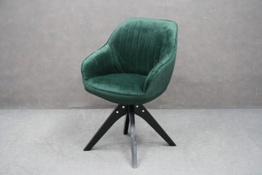 Krzesło Fotel Obrotowy Zielone Tkanina Retro Green