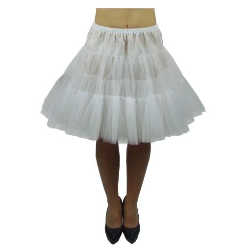 Halka tiul biała petticoat 50cm pin-up spódnica.