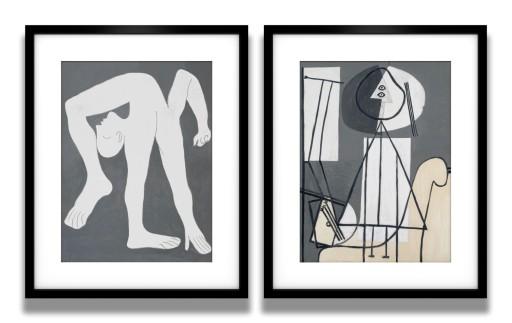 2 Plakaty W Ramach Picasso Malarz I Akrobata