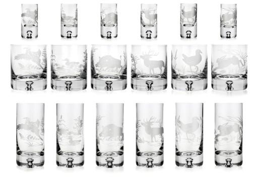 5a193eb16a PREZENT dla Myśliwego szklanki kieliszki ZESTAW 6957236857 - Allegro.pl