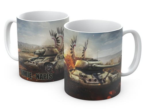 KUBEK 330ml World of Tanks GRACZA WOT imię pudełko