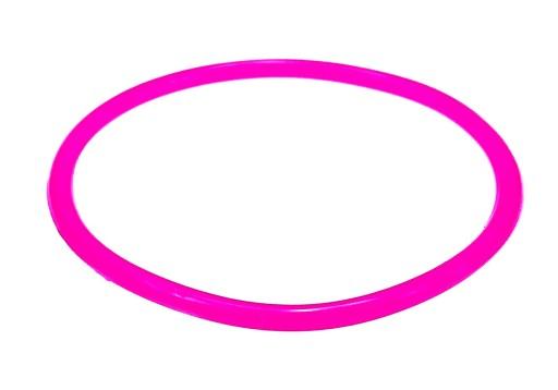 B429-6 Bransoletka bangle kolor różowy neon