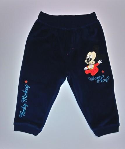 Disney SPODNIE dresowe myszka MICKEY MIKI 80