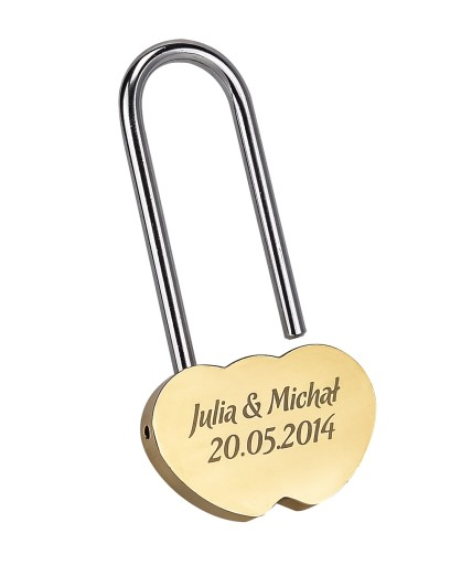 Kłódka Miłości na most z GRAWEREM XL Walentynki