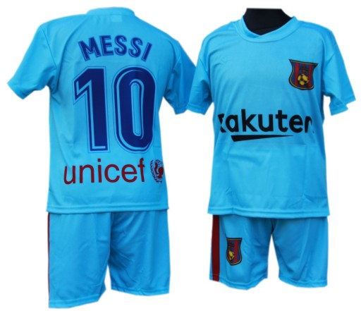 d8617569f STRÓJ PIŁKARSKI LIONEL MESSI FC BARCELONA R. 152 7747307712 - Allegro.pl