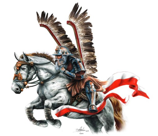 Naklejka Husar Huzar Na Koniu Polska Flaga Mała Uv 7295196619