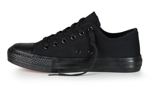 Buty sportowe Trampki damskie CZARNE Tenisówki r35