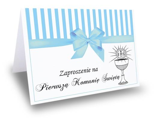 Zaproszenie Zaproszenia Na Pierwszą Komunię świętą 7188714125