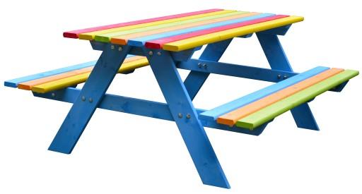 Stolik Z ławeczkami Dla Dzieci Piaskownica 120cm