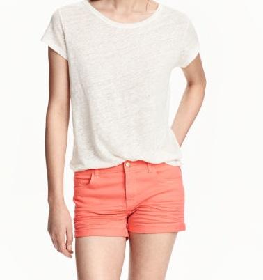 H&M HOTPANTS szorty cienki jeans denim 42 XL