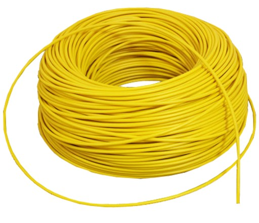 CABLE CABLE TURN THE LAMP LED 1x1mm YELLOW 2.5m