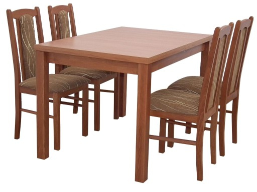ZESTAW stół 80x120x150 + 4 krzesła do jadalni