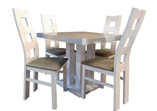 Kwadratowy Rozkładany Stół 4 Krzesła Biały Mix 6919159069 Allegropl